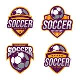 Λογότυπα ποδοσφαίρου, αμερικανικός αθλητισμός λογότυπων Στοκ Εικόνες
