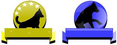 Λογότυπα σκυλιών Στοκ εικόνα με δικαίωμα ελεύθερης χρήσης