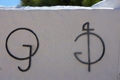 Λογότυπα των εμπορικών σημάτων ταύρων Mijas Μάλαγα Στοκ εικόνες με δικαίωμα ελεύθερης χρήσης