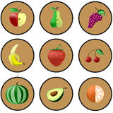 Λογότυπα των εξωτικών φρούτων Στοκ εικόνα με δικαίωμα ελεύθερης χρήσης
