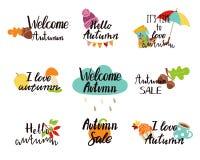 Λογότυπα φθινοπώρου, ετικέττες, ετικέτες Στοκ φωτογραφία με δικαίωμα ελεύθερης χρήσης