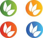 Λογότυπα φύλλων Στοκ φωτογραφίες με δικαίωμα ελεύθερης χρήσης