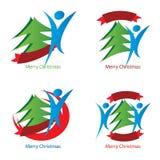 Λογότυπα χαράς Χριστουγέννων Στοκ εικόνες με δικαίωμα ελεύθερης χρήσης