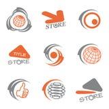 λογότυπα χρώματος που τί&thet Στοκ Εικόνες