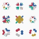 Λογότυπα χρώματος Στοκ Φωτογραφία