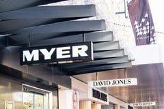 Λογότυπα Myer και του Δαβίδ Jones Στοκ Εικόνες