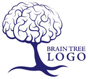 Λογότυπο δέντρων εγκεφάλου ελεύθερη απεικόνιση δικαιώματος