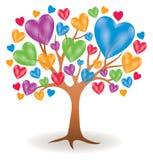 Λογότυπο δέντρων καρδιών Στοκ Φωτογραφίες