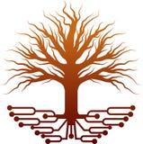 Λογότυπο δέντρων κυκλωμάτων διανυσματική απεικόνιση