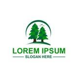 Λογότυπο δέντρων πεύκων Στοκ Φωτογραφίες
