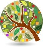 Λογότυπο δέντρων ύφους Στοκ Εικόνα