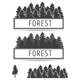 Λογότυπο ή έμβλημα fir-trees Στοκ Εικόνες