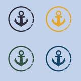 Λογότυπο αγκύρων στο ύφος grunge Στοκ φωτογραφίες με δικαίωμα ελεύθερης χρήσης