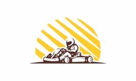 Λογότυπο αγώνα ταχύτητας Gokart Στοκ Εικόνες