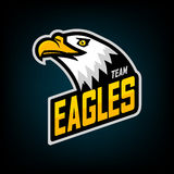 Λογότυπο αετών για την αθλητική ομάδα Στοκ φωτογραφία με δικαίωμα ελεύθερης χρήσης