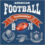 Λογότυπο αθλητικού αμερικανικού ποδοσφαίρου Στοκ φωτογραφία με δικαίωμα ελεύθερης χρήσης