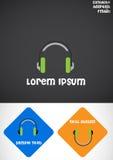 λογότυπο ακουστικών Στοκ Φωτογραφία