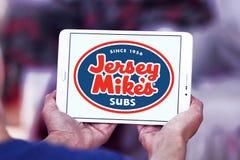 Λογότυπο αλυσίδων γρήγορου φαγητού υποβρυχίων του Τζέρσεϋ Mike ` s Στοκ Φωτογραφίες