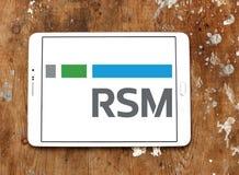 Λογότυπο αμερικάνικης εταιρίας RSM στοκ φωτογραφία με δικαίωμα ελεύθερης χρήσης