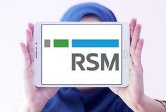 Λογότυπο αμερικάνικης εταιρίας RSM στοκ φωτογραφίες με δικαίωμα ελεύθερης χρήσης