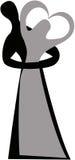 Λογότυπο ανδρών και γυναικών απεικόνιση αποθεμάτων