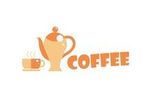 Λογότυπο απεικόνισης καφετεριών Στοκ Εικόνες