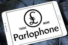 Λογότυπο αρχείων Parlophone Στοκ φωτογραφία με δικαίωμα ελεύθερης χρήσης