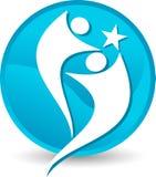 Λογότυπο αστεριών ζεύγους Στοκ φωτογραφία με δικαίωμα ελεύθερης χρήσης