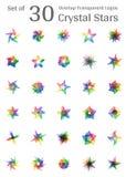Λογότυπο αστεριών κρυστάλλου ελεύθερη απεικόνιση δικαιώματος