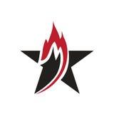 Λογότυπο αστεριών Flam Στοκ εικόνα με δικαίωμα ελεύθερης χρήσης