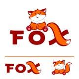 Λογότυπο αλεπούδων Στοκ Εικόνα