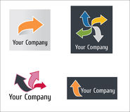 λογότυπο βελών σύγχρονο Στοκ Εικόνες