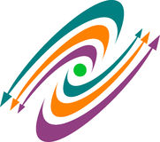 λογότυπο βελών Στοκ εικόνα με δικαίωμα ελεύθερης χρήσης