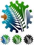 Λογότυπο βιομηχανίας γεωργίας ελεύθερη απεικόνιση δικαιώματος