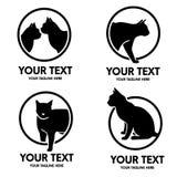 Λογότυπο γατών Στοκ εικόνα με δικαίωμα ελεύθερης χρήσης