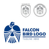 Λογότυπο 02 γερακιών πουλιών Στοκ Φωτογραφία