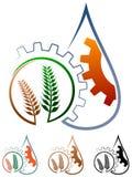 Λογότυπο γεωργίας διανυσματική απεικόνιση