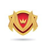 Λογότυπο για τις επιχειρήσεις και τους ιστοχώρους υπό μορφή ασπίδας Στοκ εικόνες με δικαίωμα ελεύθερης χρήσης