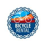 Λογότυπο για το ενοίκιο ποδηλάτων E διανυσματική απεικόνιση