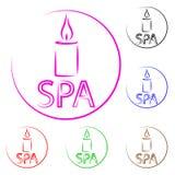Λογότυπο για το κέντρο SPA ξέν. ελεύθερη απεικόνιση δικαιώματος