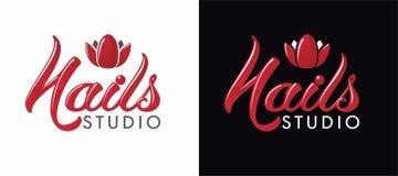 Λογότυπο για το στούντιο καρφιών Στοκ φωτογραφία με δικαίωμα ελεύθερης χρήσης