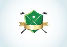 λογότυπο γκολφ λεσχών Στοκ φωτογραφία με δικαίωμα ελεύθερης χρήσης