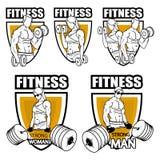Λογότυπο γυμναστικής ικανότητας, κατάρτιση ικανότητας διανυσματική απεικόνιση