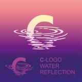 Λογότυπο Γ επιστολών καθρεφτών διανυσματική απεικόνιση