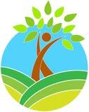 Λογότυπο δέντρων Στοκ εικόνα με δικαίωμα ελεύθερης χρήσης