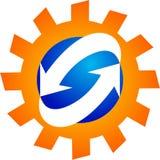 Λογότυπο διαδικασίας παραγωγής στοκ εικόνα