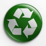 λογότυπο διακριτικών ανακύκλωσης Στοκ Φωτογραφίες