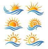 Λογότυπο διασκέδασης ήλιων Στοκ φωτογραφία με δικαίωμα ελεύθερης χρήσης