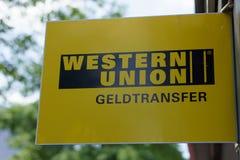 Λογότυπο Δυτικής Ένωσης Στοκ φωτογραφίες με δικαίωμα ελεύθερης χρήσης