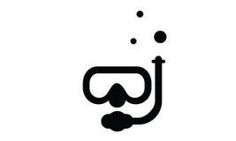 Λογότυπο εικονιδίων κατάδυσης Απεικόνιση αποθεμάτων